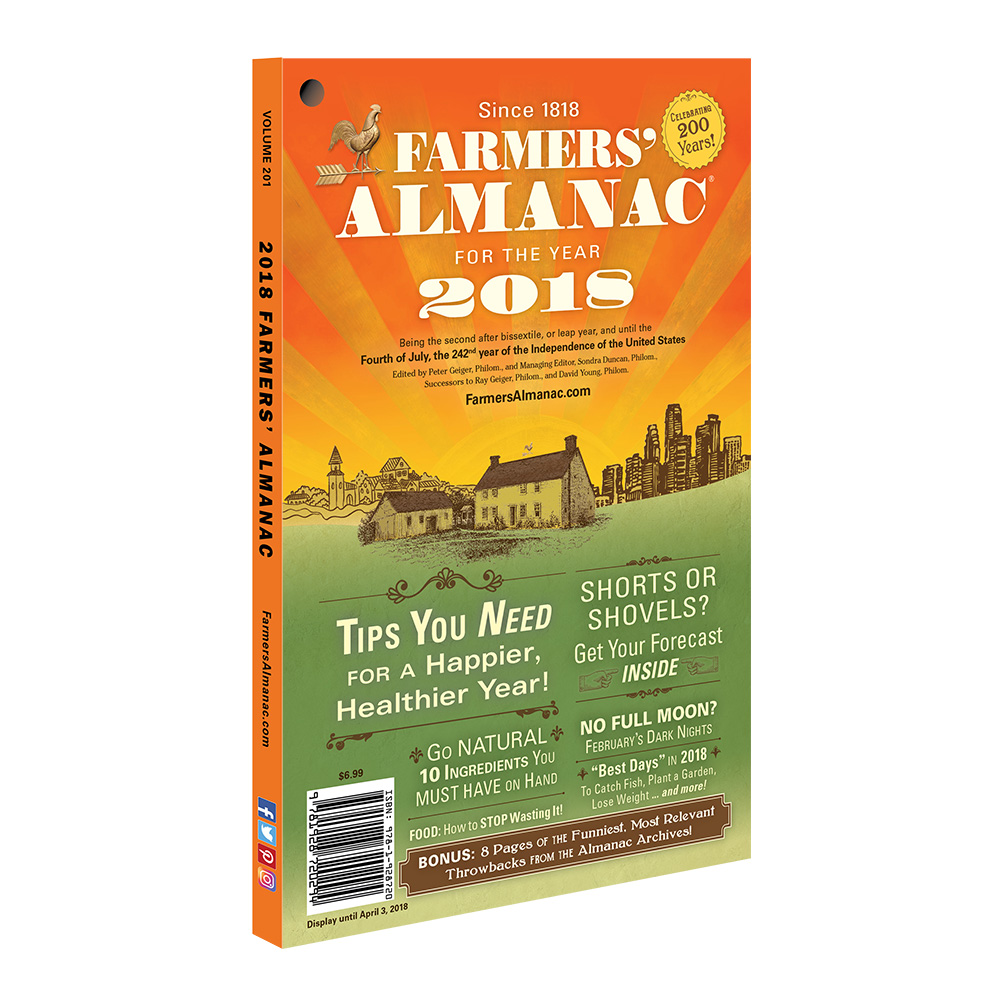 2018 farmers 39 almanac farmers 39 almanac store for Farmers almanac fishing calendar