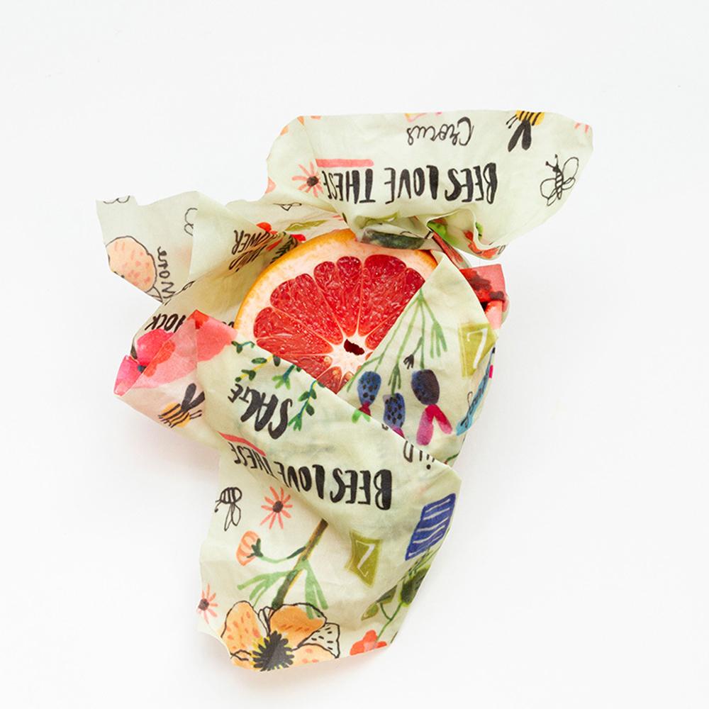 Reusable Food Wrap Bee Print