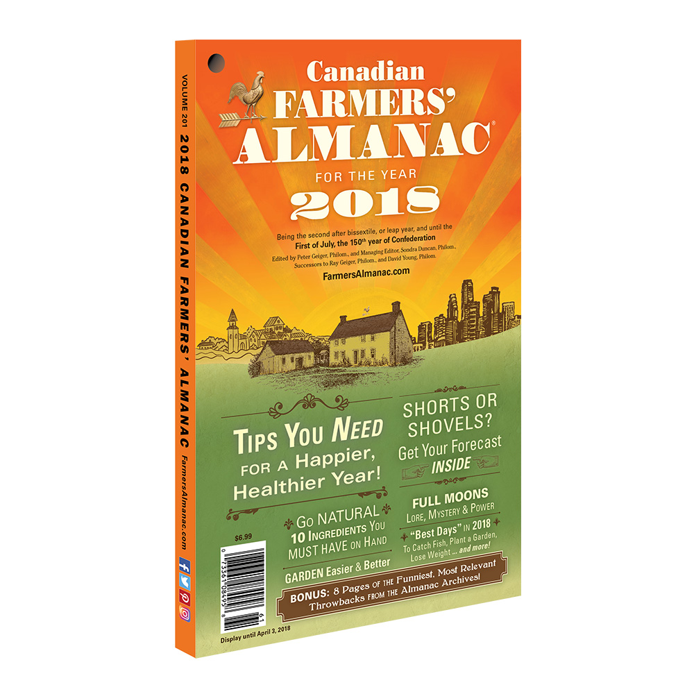 2018 canadian farmers 39 almanac farmers 39 almanac store for Farmers fishing almanac